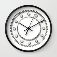 detroit Wall Clocks featuring Detroit by Fernando Vieira