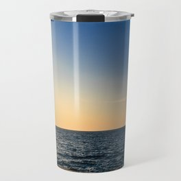 Colorful sunset in front of the city of Trieste Travel Mug