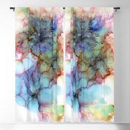 Abstract flower. Alcohol ink Blackout Curtain