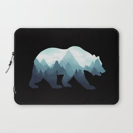 Bear Double Exposure Grizzly Surreal Wildlife Animal Laptop Sleeve