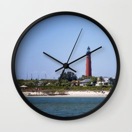 Sunny Day at Ponce Inlet Wall Clock