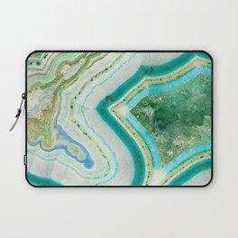 Sea Spray Crystal Agate Slice Laptop Sleeve