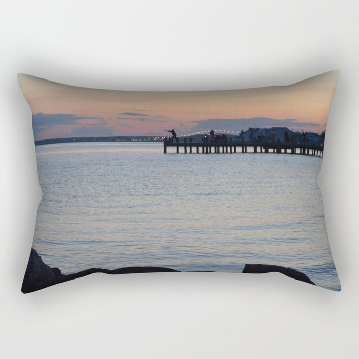 Seaside Fisherman Rectangular Pillow