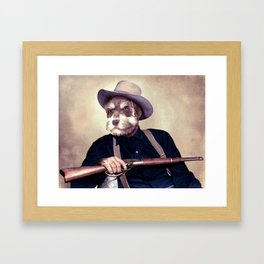 Wayne Dog Framed Art Print
