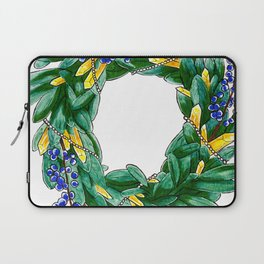 Seasonal wreath with bayberry, citrine and pearls Laptop Sleeve