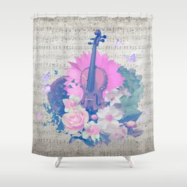 "VIOLIN by collection ""Music"" Shower Curtain"