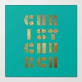 Christchurch Stick & Ball Green Canvas Print