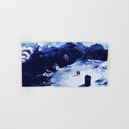 Tardis Art At The Snow Mountain Hand & Bath Towel