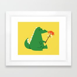 Dragon and Marshmallow Framed Art Print