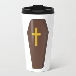 Halloween coffin with cross Travel Mug