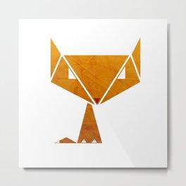Origami Fox Metal Print