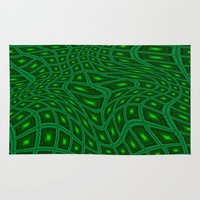 lime Area & Throw Rugs featuring Lime by Isabel Isaza