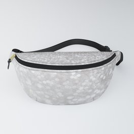 Silver ice - glitter effect- Luxury design Fanny Pack