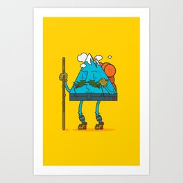Mr. Mountain Man: Sunny Day Art Print
