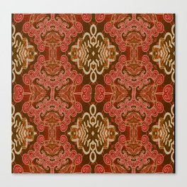 Celtic and Mayan Inspired Neotribal Print Canvas Print