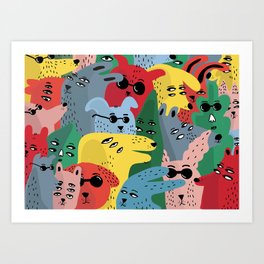 CELEBRATING EACH OTHER Art Print
