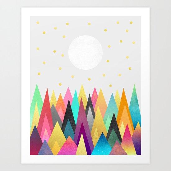 Dreamy Peaks / Version 2 Art Print