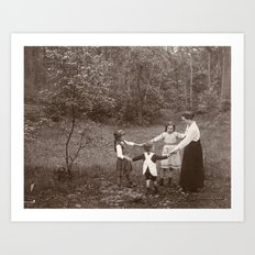 Dancing in a Forest, 1917 Art Print