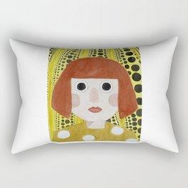 Little Kusama  Rectangular Pillow