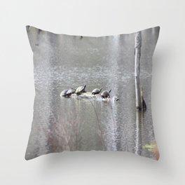 Strand of Turtles Throw Pillow