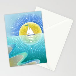 Sunny Sailing Stationery Cards