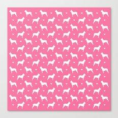 boston terrier silhouette pattern Canvas Print