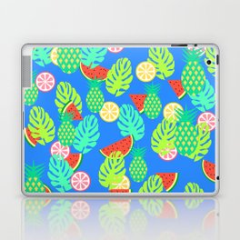 Watermelons and pineapples in blue Laptop & iPad Skin