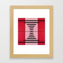August - mirror line graphic Framed Art Print