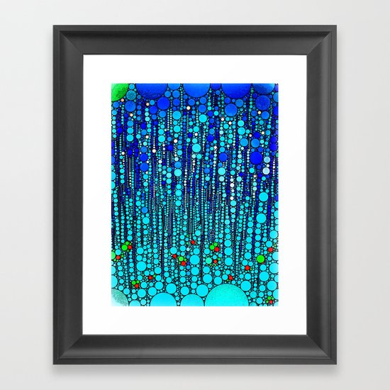 :: Blue Martini Celebration :: Framed Art Print