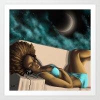 nighttime music Art Print