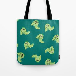 Dino explosion Tote Bag