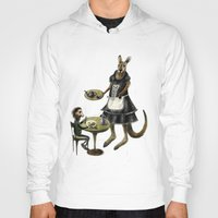 cafe Hoodies featuring Kangaroo cafe by Anna Shell