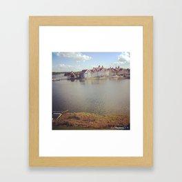Floating Ressort Framed Art Print