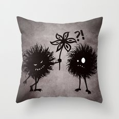 Kind Evil Bugs Throw Pillow