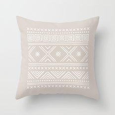 Into the West - in Taupe Throw Pillow