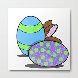 Eggs and Bunny? Metal Print