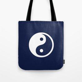 Indigo Navy Blue Yin Yang Tote Bag
