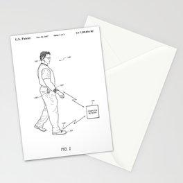 Retro 1980's Gadget Man Apple Watch Stationery Cards