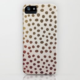 Gold Pois iPhone Case
