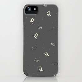 Leo Pattern iPhone Case