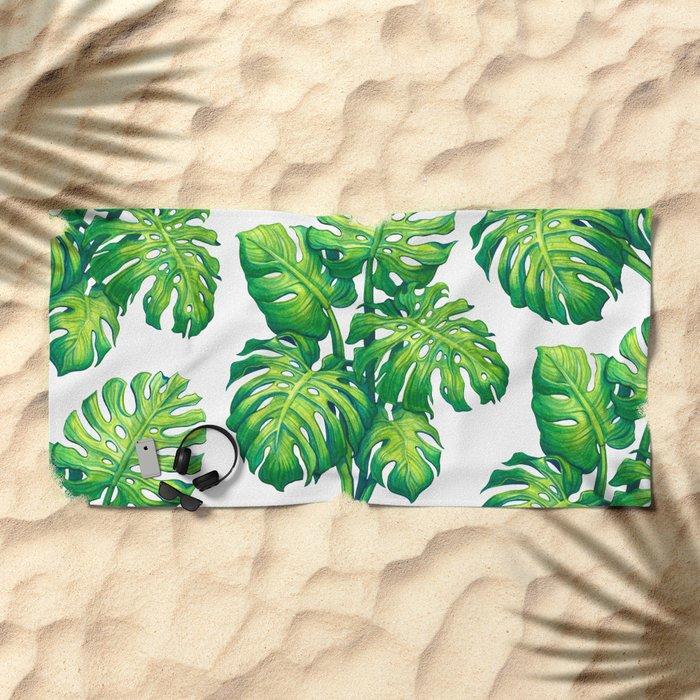Monstera Beach Towel