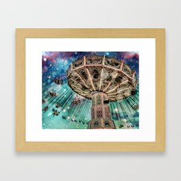 Dip Your Toes In the Stars Framed Art Print