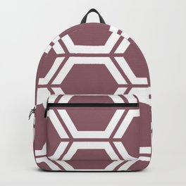 Raspberry glace - violet - Geometric Polygon Pattern Backpack