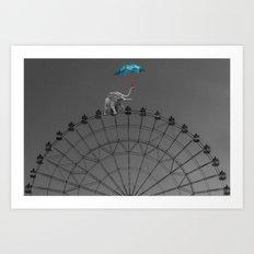 The balancing act Art Print