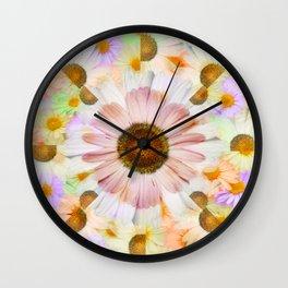 Kaleidoscope Daisies Wall Clock