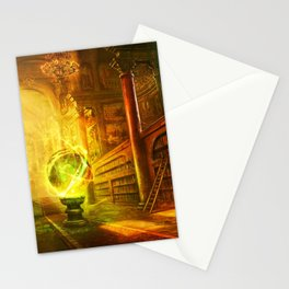 Magic Library Stationery Cards