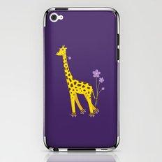 Funny Giraffe Roller Skating iPhone & iPod Skin