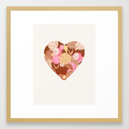 Corazón de Pan Dulce Framed Art Print