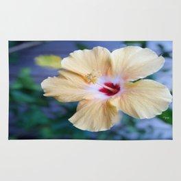 White Hibiscus Rug