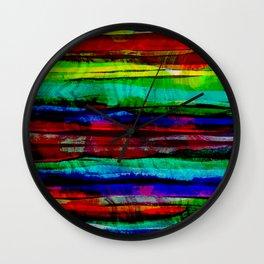 colorful bohemian pattern Wall Clock